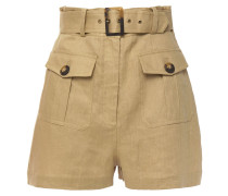 Suraya Belted Linen Shorts