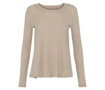 Cotton And Cashmere-blend Jersey Top Neutral