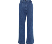 High-rise Straight-leg Jeans Mid Denim  8