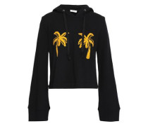 Valerie embroidered French cotton-terry hoodie