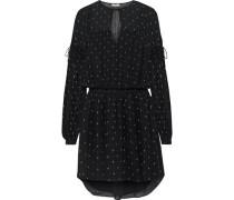 Academia printed silk-chiffon mini dress