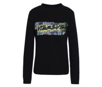 Sequin-embellished French cotton-terry sweatshirt