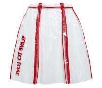 Embellished Pvc Skirt Red