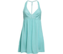 Lace And Micro Modal-blend Jersey Chemise Mint