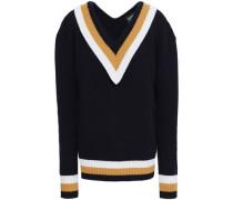 Charli Striped Wool Sweater Navy