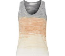 Mélange modal and silk-blend tank