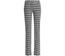 Crochet-knit straight-leg pants