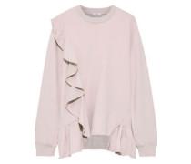 Ruffled French Cotton-terry Sweatshirt Pastel Pink