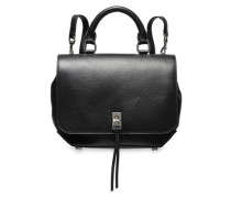 Textured-leather Backpack Black Size --