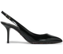 Patent-leather Slingback Pumps Black