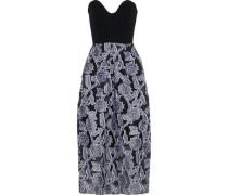Woman Amesbury Strapless Cady-paneled Fil Coupé Organza Midi Dress Black