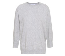 Cotton And Cashmere-blend Sweater Light Gray