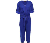 Cropped Gathered Cady Jumpsuit Royal Blue
