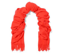 Fringe-trimmed Brushed-wool Scarf Tomato Red Size --