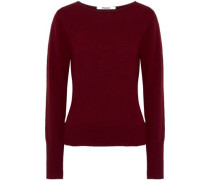 Tie-back Cutout Wool And Cashmere-blend Sweater Burgundy
