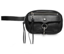 Textured-leather Belt Bag Black Size --