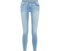 Le Skinny De Jeanne Faded Low-rise Skinny Jeans Mid Denim  4