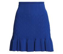 Gregoria fluted crochet-knit mini skirt