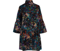 Cotton-blend Jacquard Coat Teal