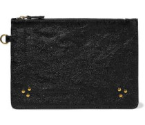 Popoche Textured-leather Pouch Black Size --