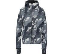 Printed Jersey Hooded Jacket Dark Gray