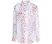 Printed silk-crepe de chine shirt
