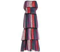 Tiered printed cotton-jersey midi dress
