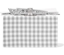 Wolf Gingham Cotton And Glittered Acrylic Box Clutch Gray Size --