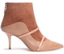 Madison Suede And Leather Ankle Boots Antique Rose
