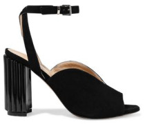 Dolly suede and Perspex sandals