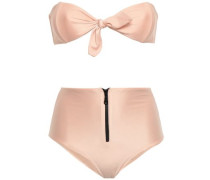 Tie-front Bandeau Bikini Blush