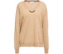 Bead-embellished Cashmere Sweater Sand