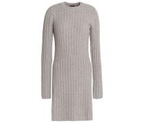 Ribbed Wool-blend Sweater Mushroom