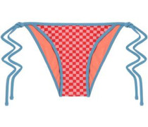Checked low-rise bikini briefs