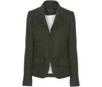 Felt-trimmed wool jacket