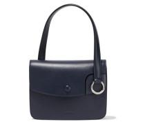 Woman Leather Shoulder Bag Midnight Blue