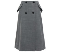 Woman Twill Wrap Skirt Anthracite
