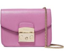 Woman Metropolis Textured-leather Shoulder Bag Lavender