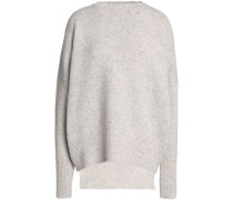 Ribbed-knit merino wool and cashmere-blend top