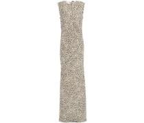 Woman Anya Leopard-print Woven Maxi Dress Ecru