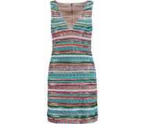 Venetia embellished satin mini dress