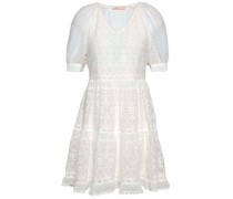 Revery Broderie Anglaise Voile Mini Dress Ivory