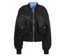 Reversible Shell Bomber Jacket Black