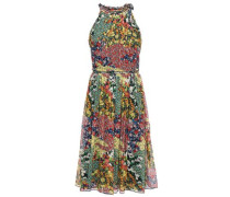 Floral-print Silk-georgette Halterneck Dress Multicolor