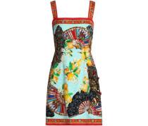 Embellished printed jacquard mini dress
