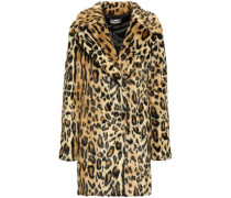 Woman Leopard-print Faux Fur Coat Animal Print