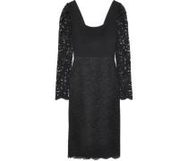 Woman Le Saint Cady-paneled Corded Lace Dress Black