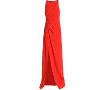 Ruched crepe gown
