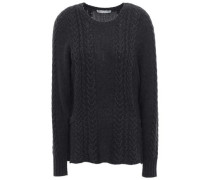 Cable-knit Sweater Charcoal