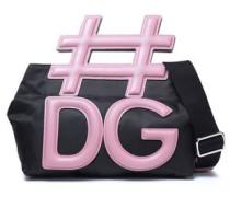 Leather And Shell Shoulder Bag Black Size --